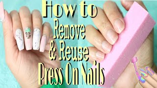 How to Remove Press On Nails Without Damage   REMOVE GLUE ON NAILS