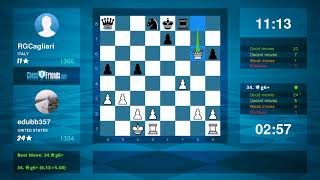 Chess Game Analysis: edubb357 - RGCagliari : 1-0 (By ChessFriends.com)