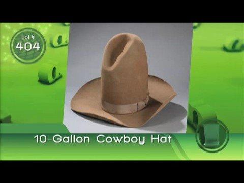 Bob Hope Auction: 10-Gallon Cowboy Hat - YouTube 10 Gallon Cowboy Hat Front