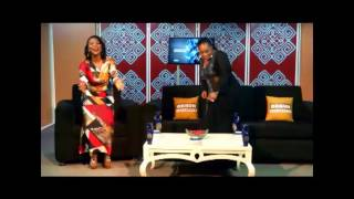 LOLA MARGRET WITH AYINKE ON MILIKI EXPRESS