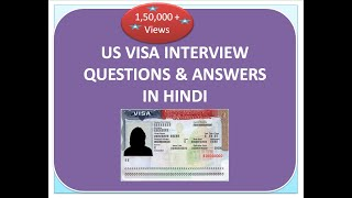 US Tourist VISA interview questions and answers in hindi