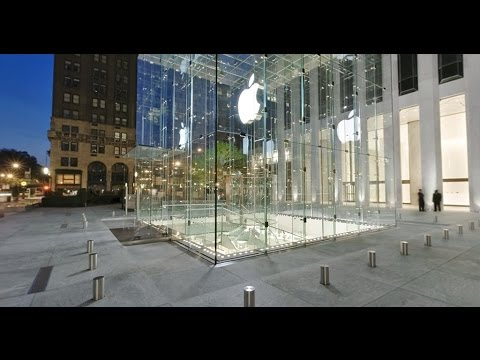 Apple Store Fifth Avenue / Магазин Apple Куб в Нью Йорке на 5 авеню