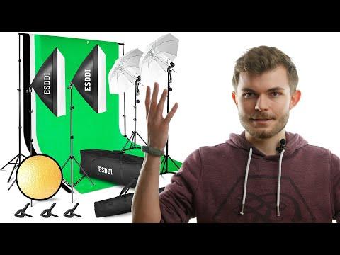 Professionelle Videos mit dem Fotostudio Set von Esddi aufnehmen (Amazon) REVIEW