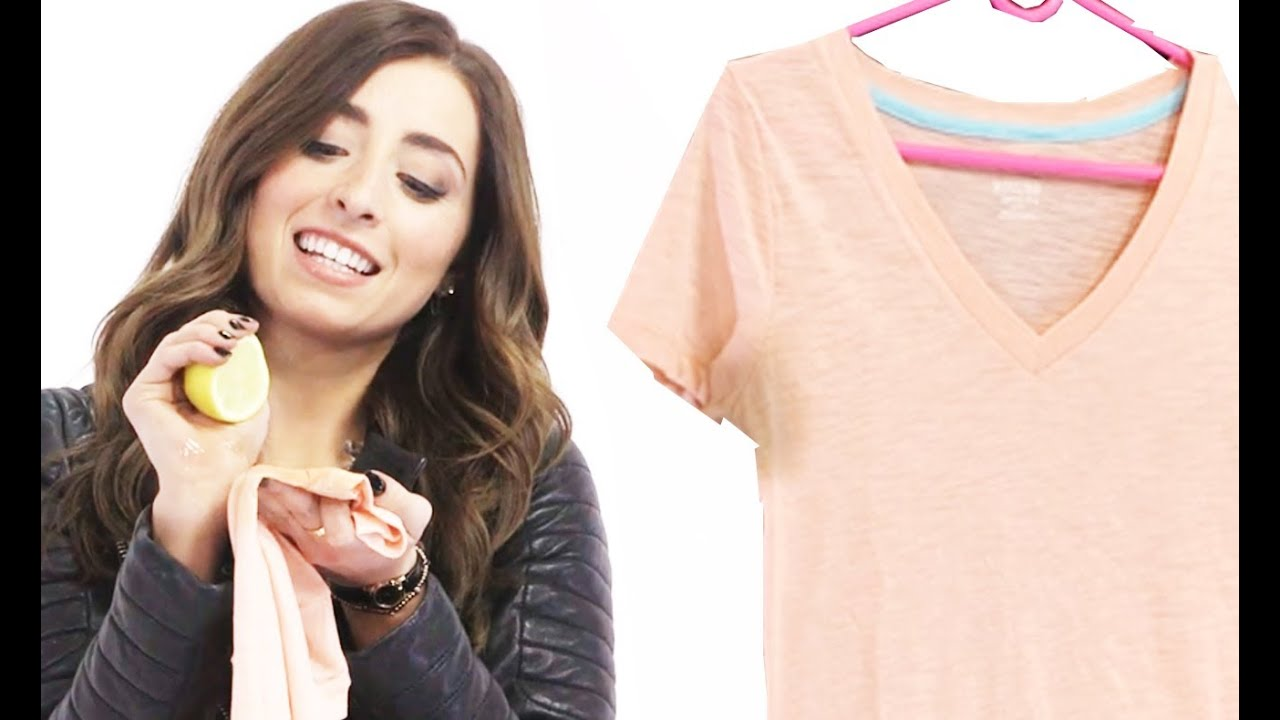 Get Rid Of Sweat Stains With Lauren Elizabeth 17daily Youtube