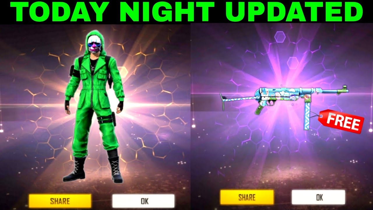 Today night updated free Bunny mp40 , Blue Draco Ak47 Skin In Free fire Store Gaming