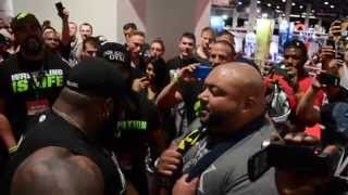 Da Hulk & Leroy Walker Confrontation Olympia 2014 CT Fletcher