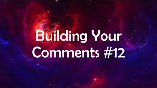Roblox Studio: Building Your Comments #12 | Part 1