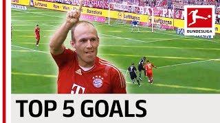 Arjen Robben - Top 5 Goals - Updated