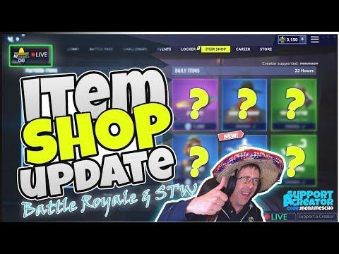 ♻menamescho's-live-🔵-item-shop-update-♻-countdown-🕐-custom-fortnite-battle-royale-14th-july-2019