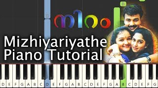 Mizhiyariyathe Piano Tutorial Notes & MIDI | Niram | Malayalam Song