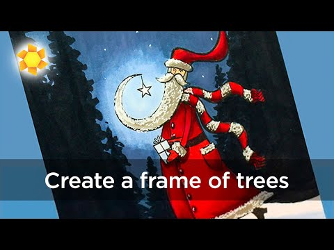 Scene Tip: Creating a frame of trees