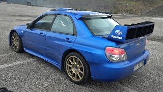 Street-Legal Subaru Impreza S12 WRC Replica Doing AWD Donuts, Revs & Accelerations!