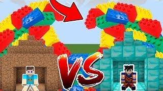 DESAFIO DA BASE VS TSUNAMI DE LEGO NO MINECRAFT !