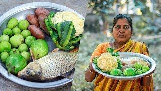 Village Cooking   S1E10 - American Carp Fish, Cauliflower, Tomatoes & Potatoes Recipe
