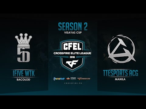 iFiveWTK vs TTeSports ACGaming – Crossfire Elite League Mindanao Cup – Round 3 Match 1