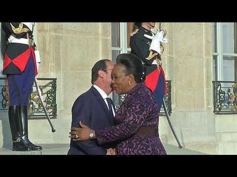 Centrafrique, La Présidente de la transition, Catherine Samba-Panza reçue à L'Elysée