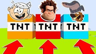 NE CHOISISSEZ PAS LA MAUVAISE TNT MINECRAFT !! Loud, Les Mondes de Ralph, Zig et Sharko ! | troll fr