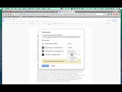 Sharing Files and Changing File Permissions in Google Drive