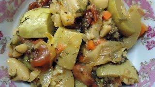 овощное рагу из молодых овощей