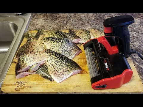 How To Use A SKINZIT Fish Skinner Machine To Remove The Skin On Crappies