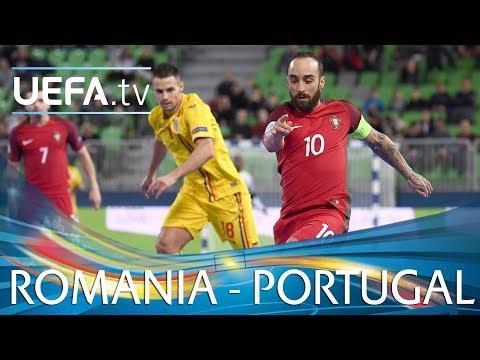 Futsal EURO highlights: Portugal v Romania