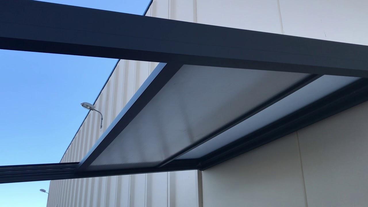pergola toit coulissant retractable motorise usine online