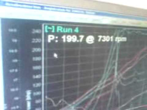 lee wilsons Nissan 200sx on rolling road, 267.2bhp@7,644rpm not bad for a 20 year old motor