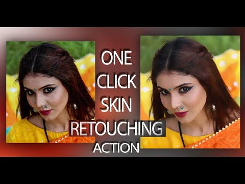 ONE Click Skin Retouching Free Photoshop Actions