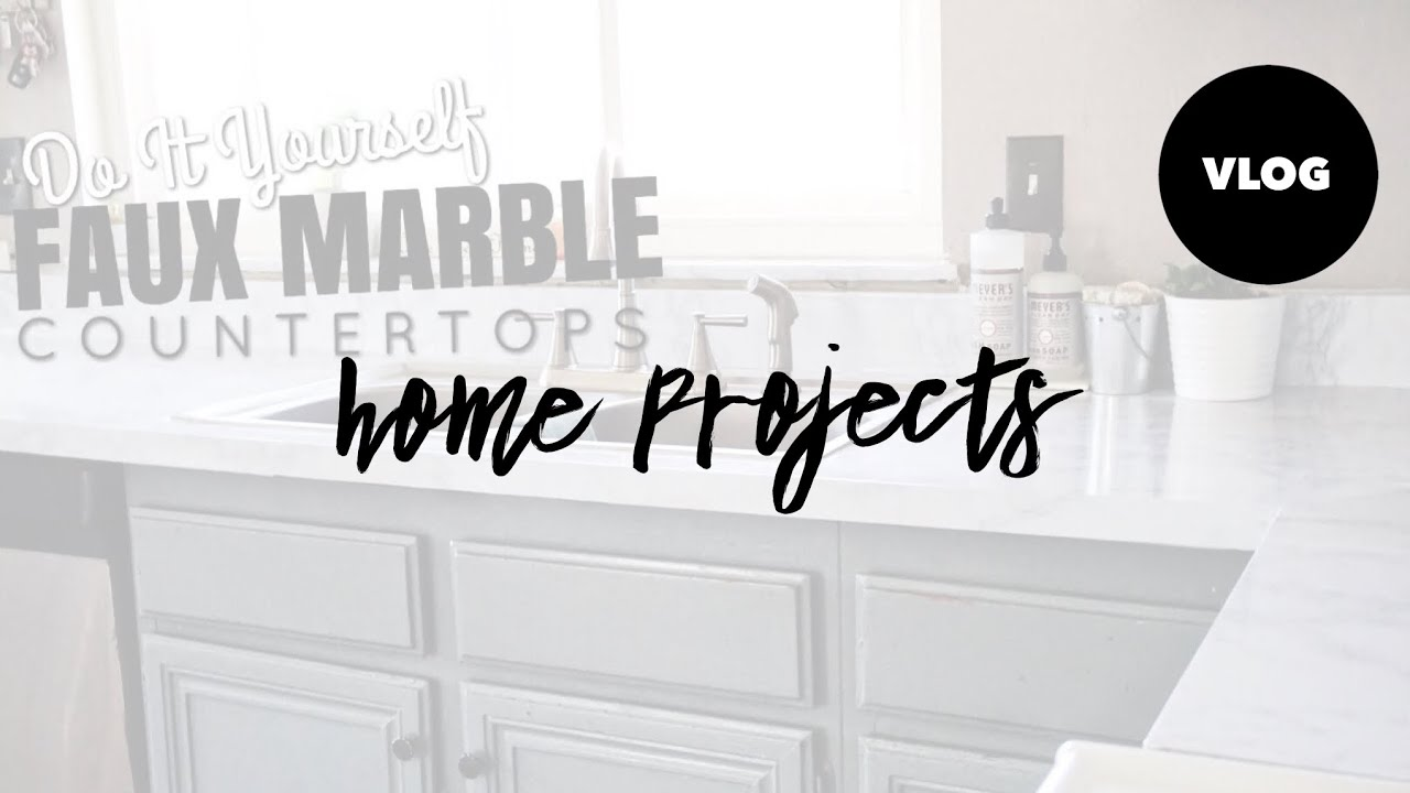 MARBLE COUNTERTOPS DIY CONTACT PAPER KITCHEN REFRESH YouTube - Contact paper for kitchen countertops
