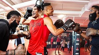 Russell Westbrook & James Harden Get Ready For Rockets Debut With UFC Training!