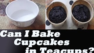 Cupcakes Using Paper Tea Cups | Can I Bake Cupcakes in Teacups? | Kitchen Tips