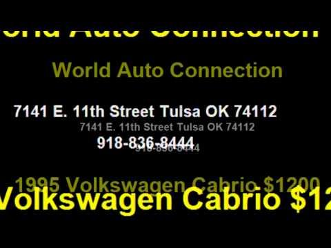 1995 Volkswagen Cabrio $1200 918-836-8444 by World Auto Connection