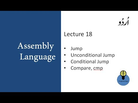Lecture 18 Jump Unconditional Jump Conditional Jump And Compare