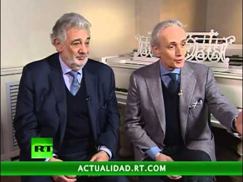 Entrevista exclusiva de José Carreras y Plácido Domingo en RT