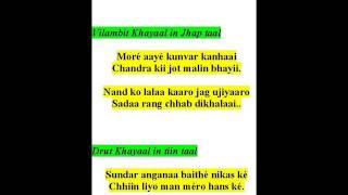ramkrishna das sings khayaals-raag shahaanaa kaanadaa-more aaye kunvar, sundar anganaa baithe
