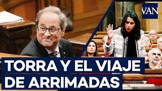 Quim Torra e Inés Arrimadas se reprochan sus viajes a Andalucía y Euskadi