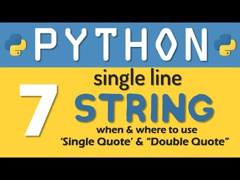 Single Line Strings In Python Programming | RebellionRider