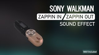 [WAV Available] Sony Walkman Zappin In and Zappin Out Sound Effect