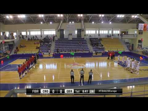 22.7.2016 16:30 CROATIA - GREAT BRITAIN FIBA U 20, Chalkida Greece (T. KAMPOURIS HALL)