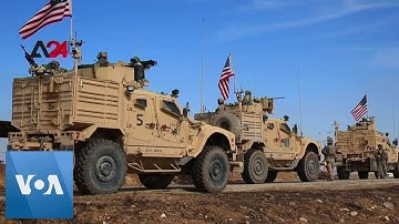 US Forces Seen Outside Oil Facility in Northeast Syria