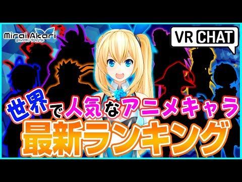 【検証】世界アニメキャラランキング2017in VRChat#2【MiraiAkariProject#014】