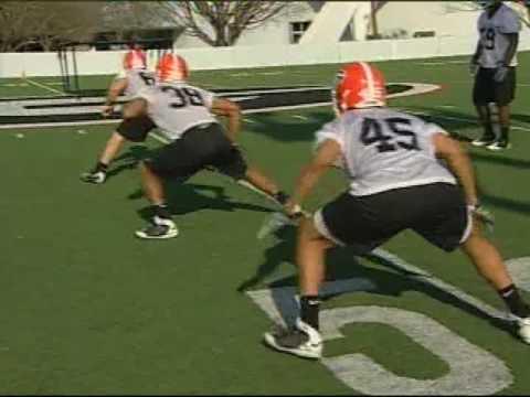 Georgia Bulldogs -  Linebacker Drills