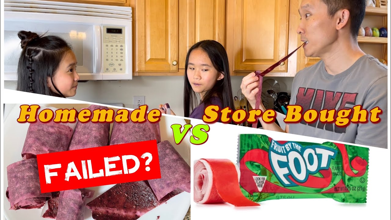 Homemade Fruit by the Foot VS Store Bought! FAILED Baking? / Janet and Kate