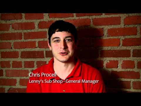 Chris Procell of Lenny's Sub Shop
