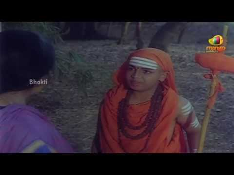 Sri Devi Mookambika Movie Scenes - Bala Sanyasi warned about Goddess Kali - Sridhar, Bhavya