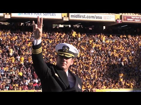 Arizona State's Salute to Service on display during Notre Dame game