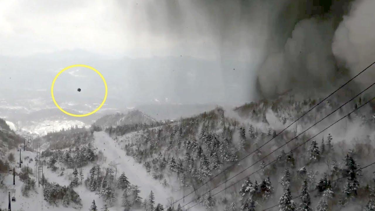 草津白根山、噴火の瞬間