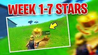 ALL SECRET BATTLE STARS WEEK 1-7 , FORTNITE SEASON 10