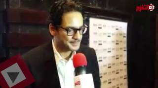 لحظة وصول الفنان خالد أبوالنجا لحضور عرض فيلم