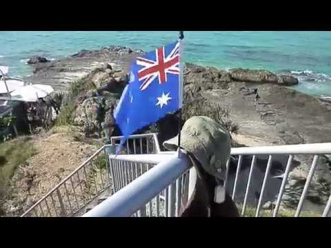 East Coast Australia Currumbin Beach QLD 4223 - Elephant Rock Anzac Tribute 2013